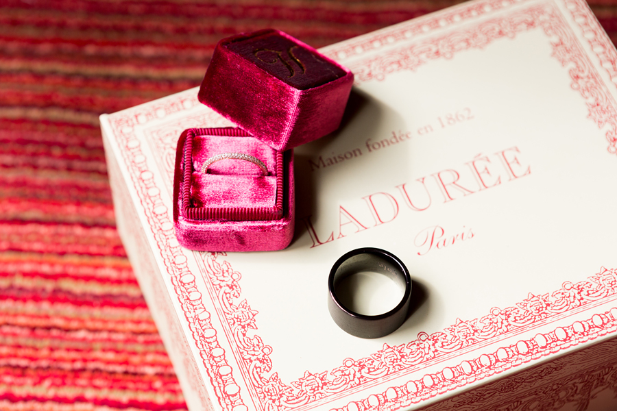 laduree macaron and wedding ring