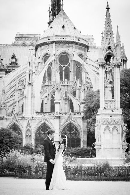 portrait photographs for intimate wedding in Paris